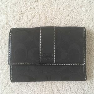 COACH Small Black Wallet